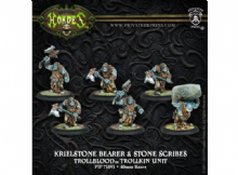 Trollblood Krielstone Bearer & Stone scribes (6)   RESIN